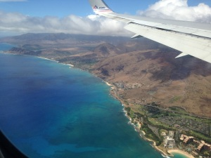 My first glimpse of Oahu