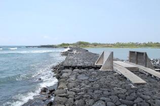 The Kaloka fishpond sea wall